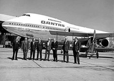 """On 16 August 1971, QANTAS took delivery of their first Boeing 747 """"Jumbo Jet"""". Pictured is 747-238B reg VH-EBA """"City of Canberra"""" at Sydney airport after the delivery flight from Seattle. Arguably the 747 is still a crowd favourite with pax and crew"""