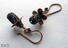 More of Robin's work using Old Rose Ox and Rusty Black finishes, combined.  Rusty Black has a copper core, so you distress it and POP!  it comes OUT!   Find her earrings at LooLoo's Box at Etsy, and the findings at bsueboutiques.com