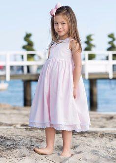 Summer dress embroidery - girls summer dress handmade