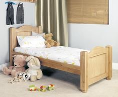 Baumhaus Amelie Oak Children's Single Bed - Standard 3ft Size - CCO11B