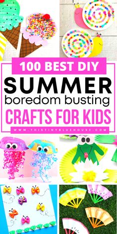 Cut your kids screen time this summer with these super fun boredum summer crafts.