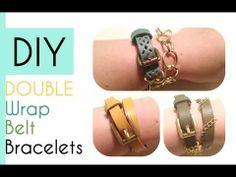 DIY: Double Wrap Belt Bracelets!