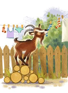Farm fun Farm fun on Behance Cute Animal Illustration, Children's Book Illustration, Goat Art, Farm Fun, Cute Art, Illustrations Posters, Creations, Retro, Drawings