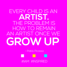 Stay true to your inner child. #IAM an #artist