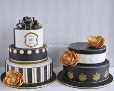White Chocolate Buttercream, Buttercream Cake, Black And Gold Birthday Cake, Black White Cakes, White Gold, Gold Cake, Velvet Cake, Red Velvet, Novelty Cakes