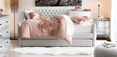 Devyn Tufted Daybed with Trundle | RH TEEN