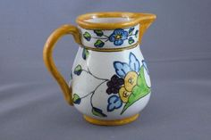Vintage Pottery Pitcher, Made In Spain $25