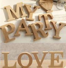Nueva carta de madera de madera alfabeto palabra de pie fiesta de la boda decoración GO(China (Mainland))