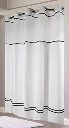 Merveilleux 36 Wide Shower Stall Curtain. Hookless RBH40MY040 Monterey Shower Curtain,  White/Black Hookless Http://www.