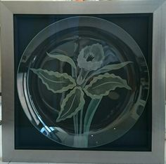 custom framed glass plate