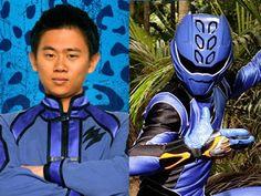 Power Rangers Jungle Fury Blue Rangers Spirit animal, the Jaguar; the bat and Antelope