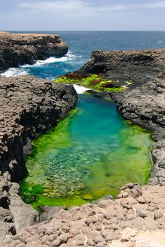 This natural pool at Cape Verde was very refreshing!