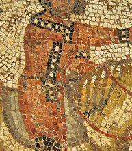 Dettaglio di tunica da un mosaico di Cartagine / detail of a tunic from a mosaic from Cartagine