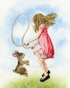 Playtime Jumping Rope  8x10 archival by TracyLizotteStudios, $22.00