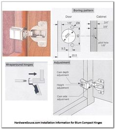 How To Install Blum Cabinet Door Hinges - Wallpaperall Corner Cabinet Hinges, Kitchen Cabinets Door Hinges, New Cabinet Doors, Diy Cabinets, Inset Cabinets, Built In Cabinets, Woodworking Jigsaw, Woodworking Plans, European Hinges