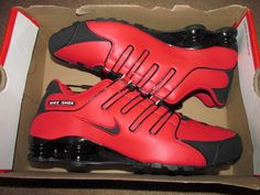 Nike Shox NZ Mens Running Shoes 10.5 University Red Black Silver 378341 600…