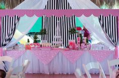 "A ""afternoon in Paris"" birthday party theme for a girly girl."