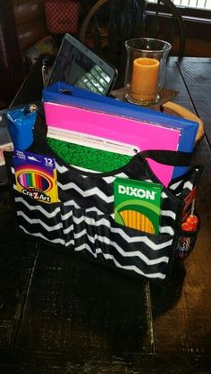 Keep-It Tote use it to hold back to school supplies for a raffle at a fundraiser for a club or a group your child is in!
