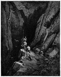 That night they reached the very heart of the Sierra Morena Gustave Doré, from El ingenioso hidalgo Don Quijote de la Mancha (The ingenious gentleman Don Quixote of la Mancha) vol. 1, by Miguel de Cervantes, Barcelona, 1892