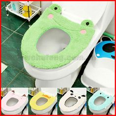 Cartoon Soft Plush Toilet Seat Cover Mat Warm Comfortable Bathroom WC Animal Toilet Covers Pad Christmas Decorations for Home Frog Bathroom, Warm Bathroom, Cheap Toilets, Frog House, Toilet Mat, Frog Theme, Frog Art, Seat Pads, Seat Covers