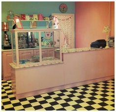 Tea shop counter