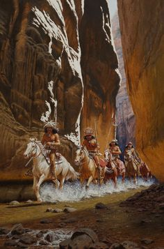 Native American Art - Narrow Canyon - Apache Indian Gallery - David Nordahl