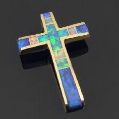 Australian opal cross