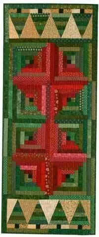Holiday table runner, free pattern.