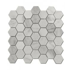 Shop For Asian Statuary Hexagon Marble Mosaics at TileBar.com