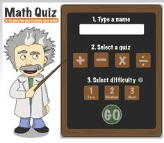 Take a quiz in all four operations