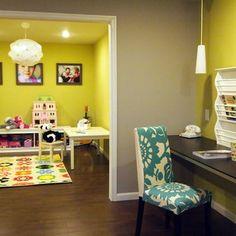 Happy Bold Kids Basement Playroom - contemporary - kids - philadelphia - Shoshana Gosselin