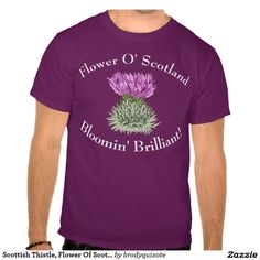 Scottish Thistle, Flower Of Scotland Tee Shirt