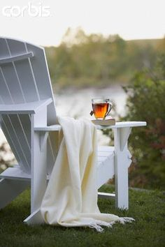 Rest a little while. Adirondack chair love <3