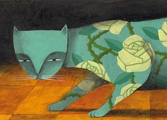 Limited edition The rose tree cat Print 47 x 155 by Thesmokingcat, €25.00
