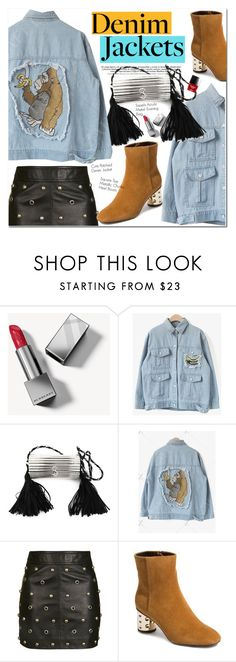 """""""Denim Jacket"""" by oshint ❤ liked on Polyvore featuring Burberry and Topshop"""