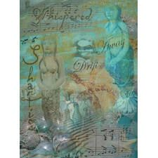 mermaid whispering shanties graphic art on canvas www