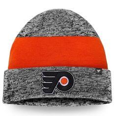 the latest b0762 24ddb Philadelphia Flyers Static Cuffed Knit Hat - Gray Orange