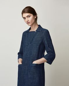 Women's Artist Denim Tunic Dress
