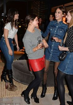 Alexa Chung, Pixie Geldof, and Daisy Lowe at the AC for AG launch party
