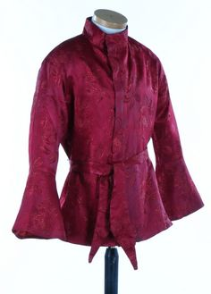 A rare Beatle's Apple Boutique man's figured burgundy satin jacket designed by 'The Fool', late 1960s