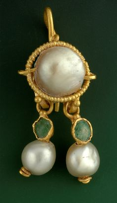A 2,000 year old gold earring found in Jerusalem.
