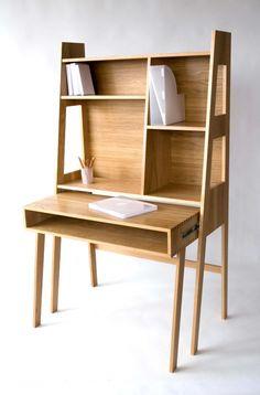 Side Tables – Solid oak bureau / desk – a unique product by furniturebyhand on DaWanda