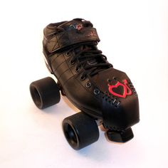 Roller Derby Toe Guards  Caps  Red Devil Hearts by BabyBitch, $40.00