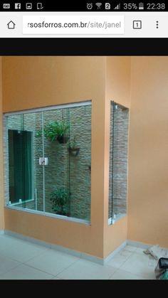 Home Room Design, Home Design Decor, Easy Home Decor, Interior Design Living Room, House Design, Indoor Courtyard, Indoor Balcony, Indoor Outdoor Living, Glass Block Installation