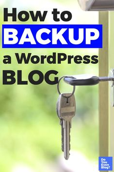 Site Security basics: Learn how to quickly, easily, and CHEAPLY backup your WordPress blog. Includes recommended tools and plugins keep hackers and bots out, and your content safe!