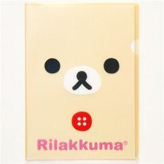 kawaii Rilakkuma bear A4 plastic file folder by San-X