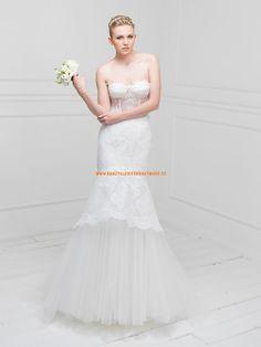 Modern Sexy Brautkleider aus Softnetz mit Applikation
