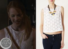 Shop Your Tv: Switched at Birth: Season 2 Episode 12 Daphne's White Lace Eyelet Top