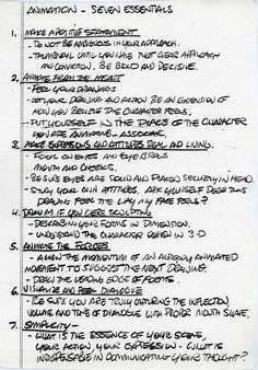 Skunk & Burning Tires, Glen Keane's 7 Animation Essentials  1. Make a...