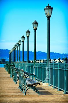 Places to rest and enjoy the view along the Embarcadero
